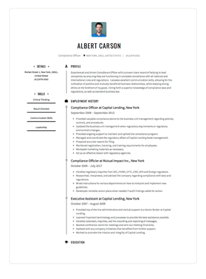 resume image for a case worker